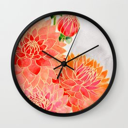 Pacey colorful bouquet Wall Clock