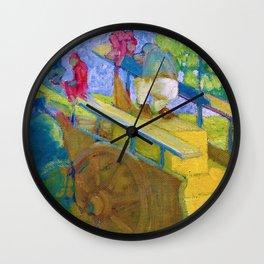 """Franz Marc """"Little monkey on a cart"""" Wall Clock"""