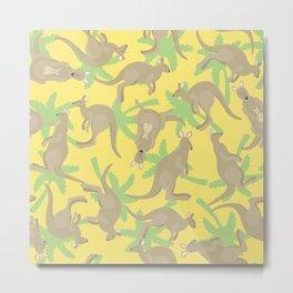 crazy kangaroos Metal Print