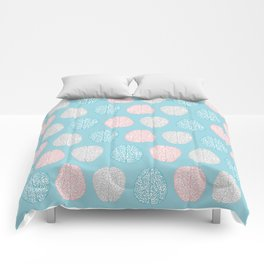 Pastel Brains Pattern Comforters