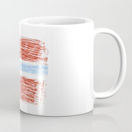 flag of norway 9 – Chalk version  snow,scandinavia,scandinavian,norwegian,oslo Coffee Mug