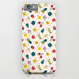 Happy fruits pattern iPhone Case