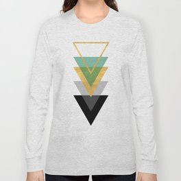 FIVE GEOMETRIC ABSTRACT HOLLOW PYRAMIDS TRIANGLE Long Sleeve T-shirt