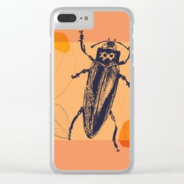 Beetle colors and leafs Clear iPhone Case