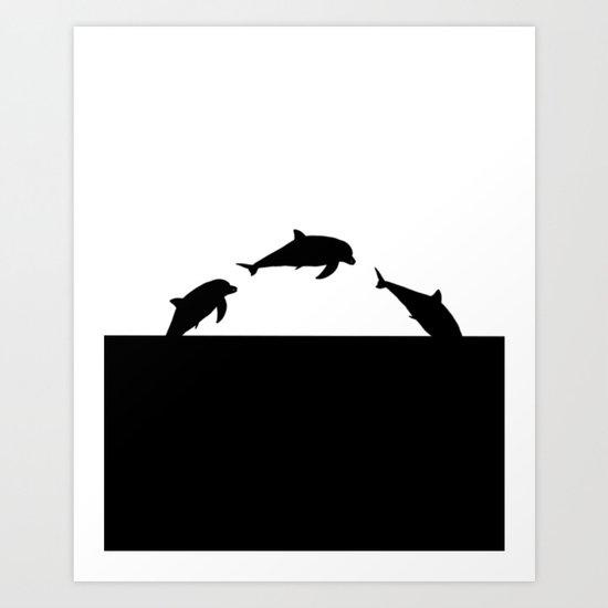 Dolfin Jumps Art Print