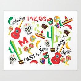 fiesta mexa Art Print