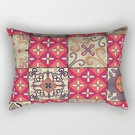 Vintage mosaic talavera ornament Rectangular Pillow