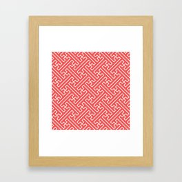 Lattice - Coral Framed Art Print
