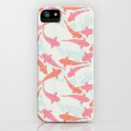 floating koi shoal iPhone Case