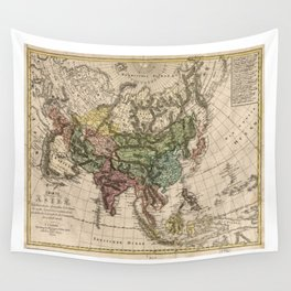 Charte van Asien (Map of Asia) 1805 Wall Tapestry