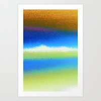 bands Art Prints featuring Colour Bands by Brian Raggatt