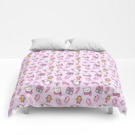 Cute Christmas // Pink Comforters