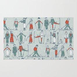 vintage ski linen Rug