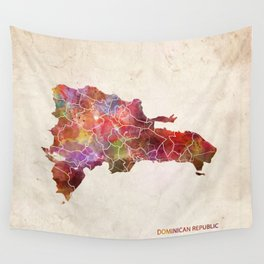 Dominican Republic map Wall Tapestry