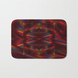 Cosmic Spiral Vortex Mirror Bath Mat