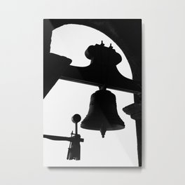 Church bell silhouette Metal Print