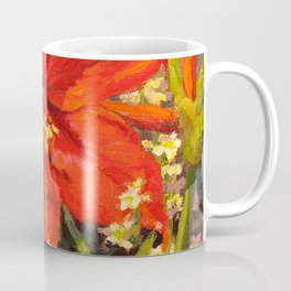 Lone Beauty — Red Daylily Blossom by L Diane Johnson Coffee Mug
