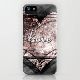 Ink Stamp Heart iPhone Case
