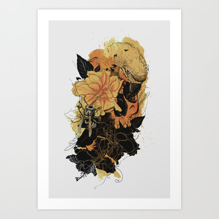 Pollination Fire Art Print