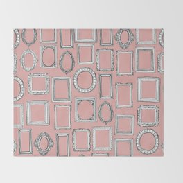 picture frames mimosa Throw Blanket