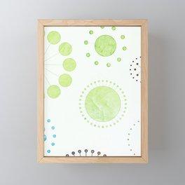 Whimsical Retro Watercolor Pattern Framed Mini Art Print