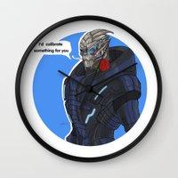 garrus Wall Clocks featuring Garrus by Pulvis