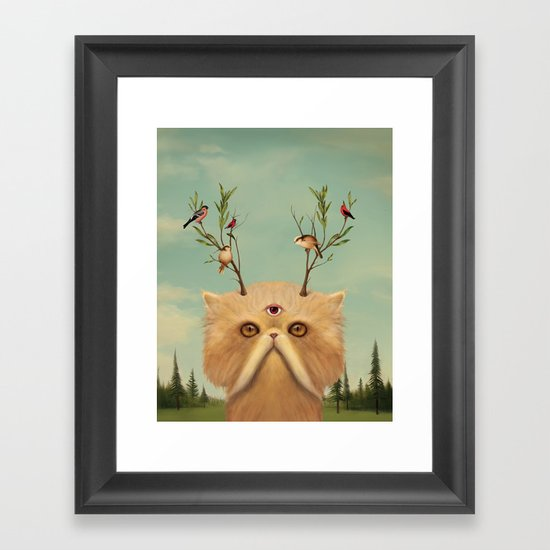 Bastet, Cat Deity - patron of the forest & animals Framed Art Print