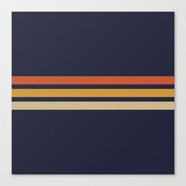 Vintage Retro Stripes Canvas Print