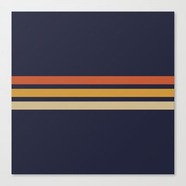 Vintage Retro Stripes Leinwanddruck