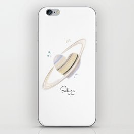 Saturn in love iPhone Skin