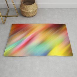 Abstract of multiple colors blending into each other Rug