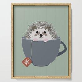 Holiday Tea Cup Hedgehog Serving Tray