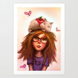 Kitty Q Art Print