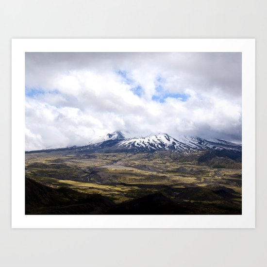Mountain Fields Art Print