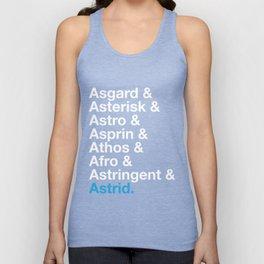 Astrid Names Unisex Tank Top