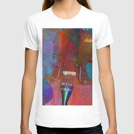 Violin Abstract Two T-shirt