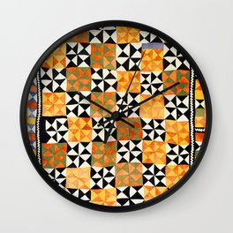 North Afghanistan Cotton Quilt Print Wall Clock