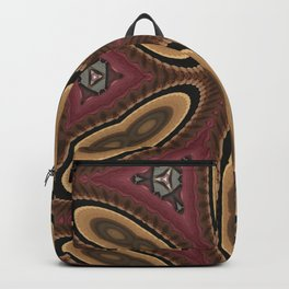 Splitting yellow Cell Pattern Backpack