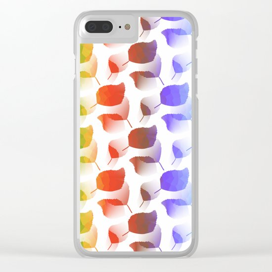 Leaves Descent Clear iPhone Case