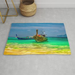 Thai Longboats Art Rug