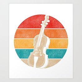 Retro Cello Art Print