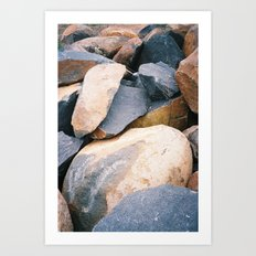 Rock pile from NSW/ACT border, Australian countryside Art Print