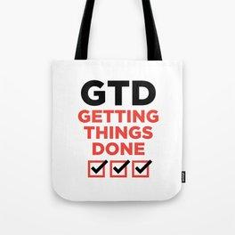 GTD : GETTING THINGS DONE Tote Bag