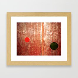 Metallic Face (Red Version) Framed Art Print