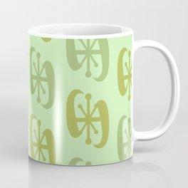 Starburst Bell Peppers Light Green Coffee Mug
