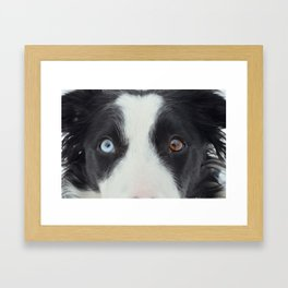 Heaven and Earth in her eyes.  Framed Art Print