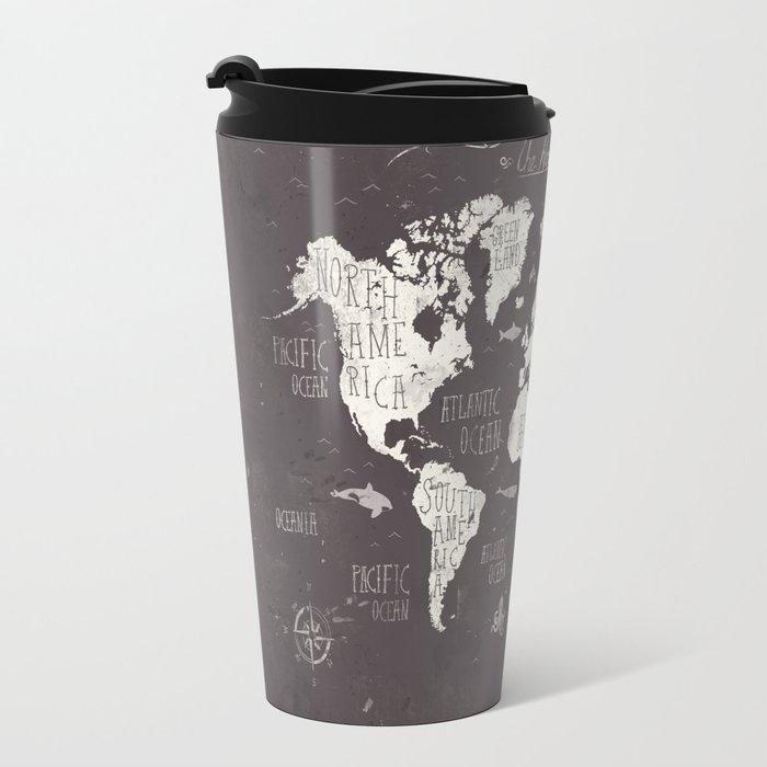 The world map travel mug by mikekoubou society6 the world map travel mug sciox Image collections