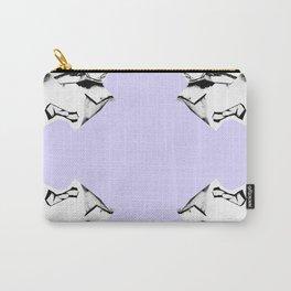 Purple Glitch Scrunch Quad Carry-All Pouch