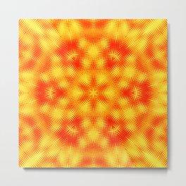 Fire Kaleidoscope 4 Metal Print