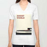 ghost world V-neck T-shirts featuring Ghost World by Stereo Unit